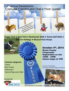 Pawapalooza Dog-a-Thon Games and Costume Contest 2014-2
